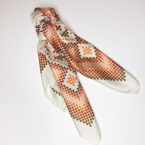 Vintage Accessories - RARE beautiful vintage Italian scarf. Orange brown